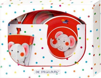 Geschenkset Melamin Elefant / Kleine Freunde - Spiegelburg-Nr. 17150
