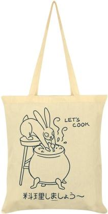 Kawaii Bunny: Let's Cook - Cream Tote Bag