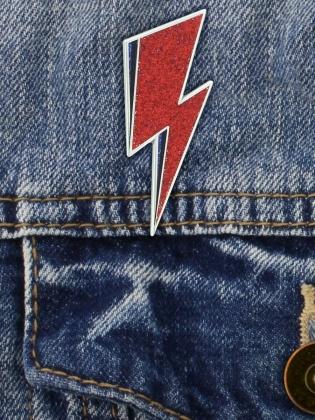 David Bowie: Lightning Bolt - Pin Badge