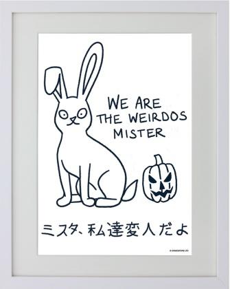 Kawaii Bunny: We Are the Weirdos Mister - Framed Mini Print