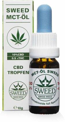 Sweed MCT-Öl (CBD: 10% / THC: 0.5%) - 10ml