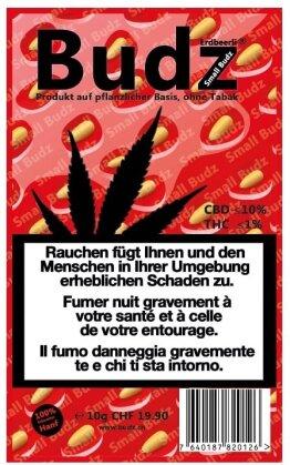 Budz Erdbeerli Small Buds (10g) - Indoor (CBD:<10% THC: <1%)