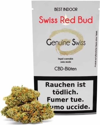 Genuine Swiss Swiss Red Bud (5g) - Indoor (CBD: <12% THC: <1%)