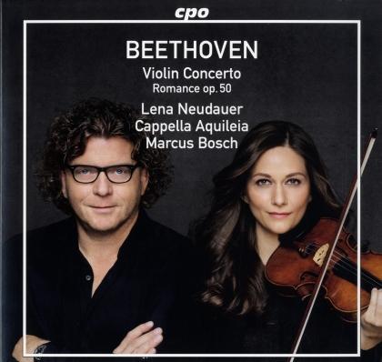 Ludwig van Beethoven (1770-1827), Marcus Bosch, Lena Neudauer & Cappella Aquileia - Violin Concerto - Romance op.50 (LP)
