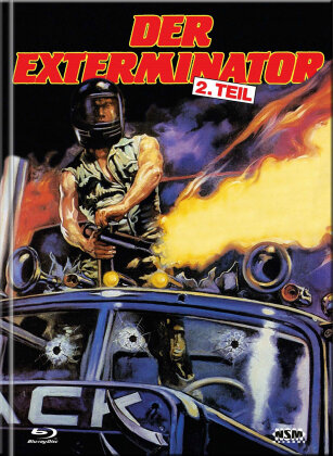 Der Exterminator - 2. Teil (1984) (Cover B, Limited Collector's Edition, Mediabook, Uncut, Blu-ray + DVD)