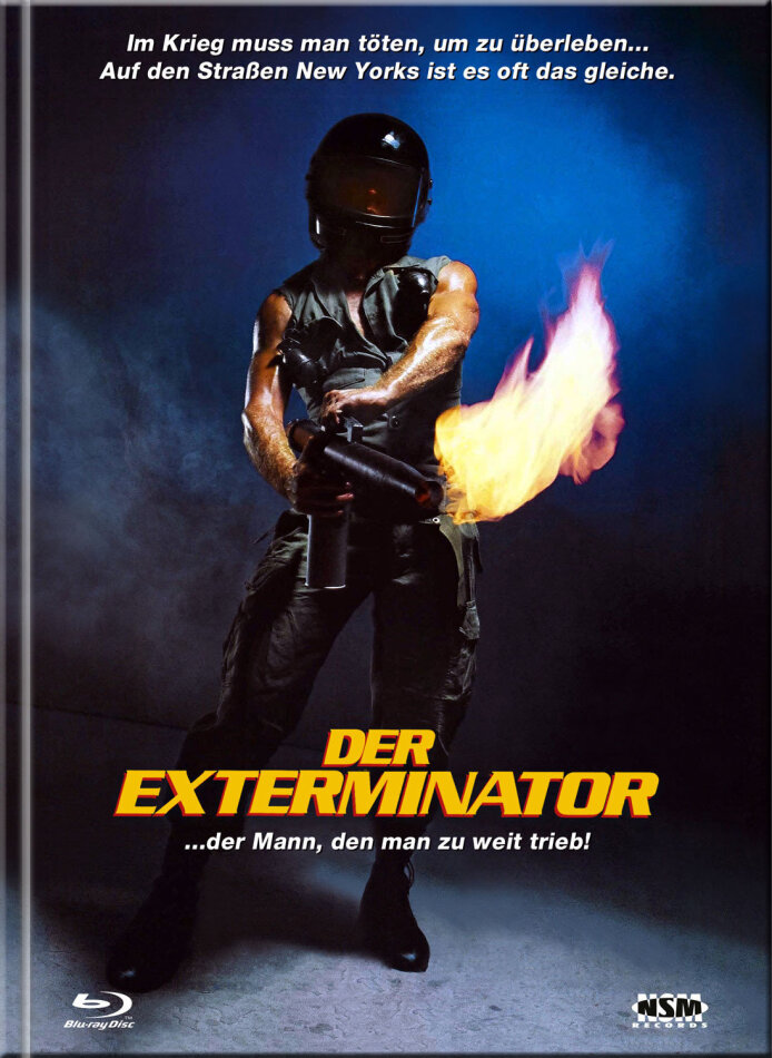 Der Exterminator (1980) (Cover A, Limited Collector's Edition, Mediabook, Remastered, Uncut, Blu-ray + DVD)