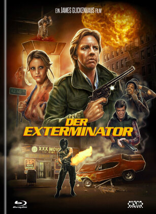Der Exterminator (1980) (Cover B, Limited Collector's Edition, Mediabook, Remastered, Uncut, Blu-ray + DVD)