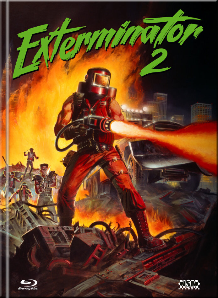 Exterminator 2 (1984) (Cover A, Limited Collector's Edition, Mediabook, Uncut, Blu-ray + DVD)