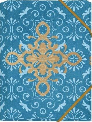 Der Zauber Indiens Mini-Sammelmappe Motiv Blaues Ornament