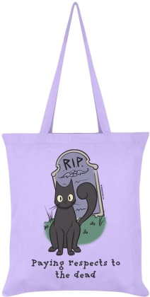 Spooky Cat: Paying Respects to the Dead - Lilac Tote Bag