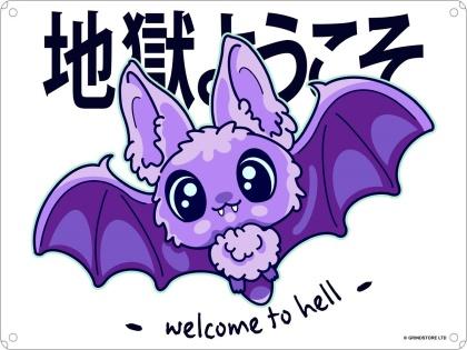 Kawaii Coven: Welcome to Hell - Mini Tin Sign