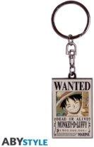 Porte-Clef Métal - One Piece - Wanted Luffy