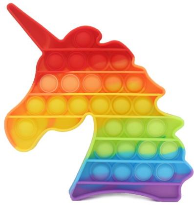 Fidget Push Pop Bubble Unicorn/Einhorn Rainbow .