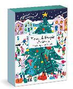 Louise Cunningham Merry and Bright 12 Days of Christmas Advent Puzzle Calendar