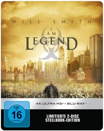 I am Legend (2007) (Limited Edition, Steelbook, 4K Ultra HD + Blu-ray)