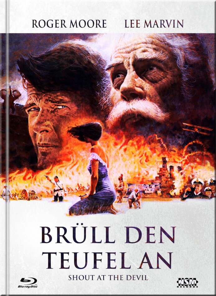 Brüll den Teufel an - Shout at the Devil (1976) (Cover E, Limited Collector's Edition, Mediabook, Uncut, Blu-ray + DVD)