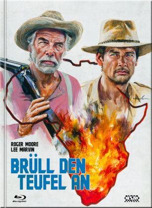 Brüll den Teufel an (1976) (Cover F, Limited Collector's Edition, Mediabook, Uncut, Blu-ray + DVD)