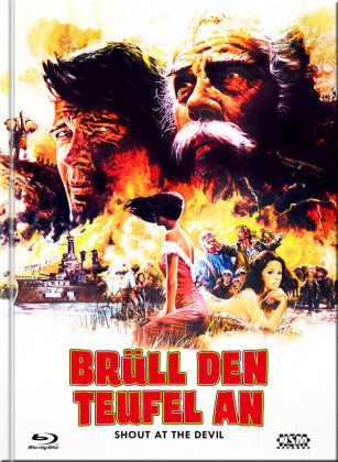 Brüll den Teufel an - Shout at the Devil (1976) (Cover G, Limited Collector's Edition, Mediabook, Uncut, Blu-ray + DVD)