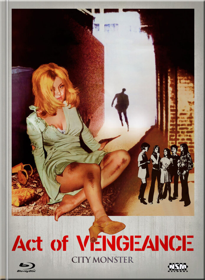 Act of Vengeance - City Monster (1974) (Cover B, Limited Collector's Edition, Mediabook, Uncut, Blu-ray + DVD)