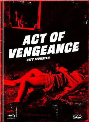 Act of Vengeance - City Monster (1974) (Cover E, Limited Collector's Edition, Mediabook, Uncut, Blu-ray + DVD)
