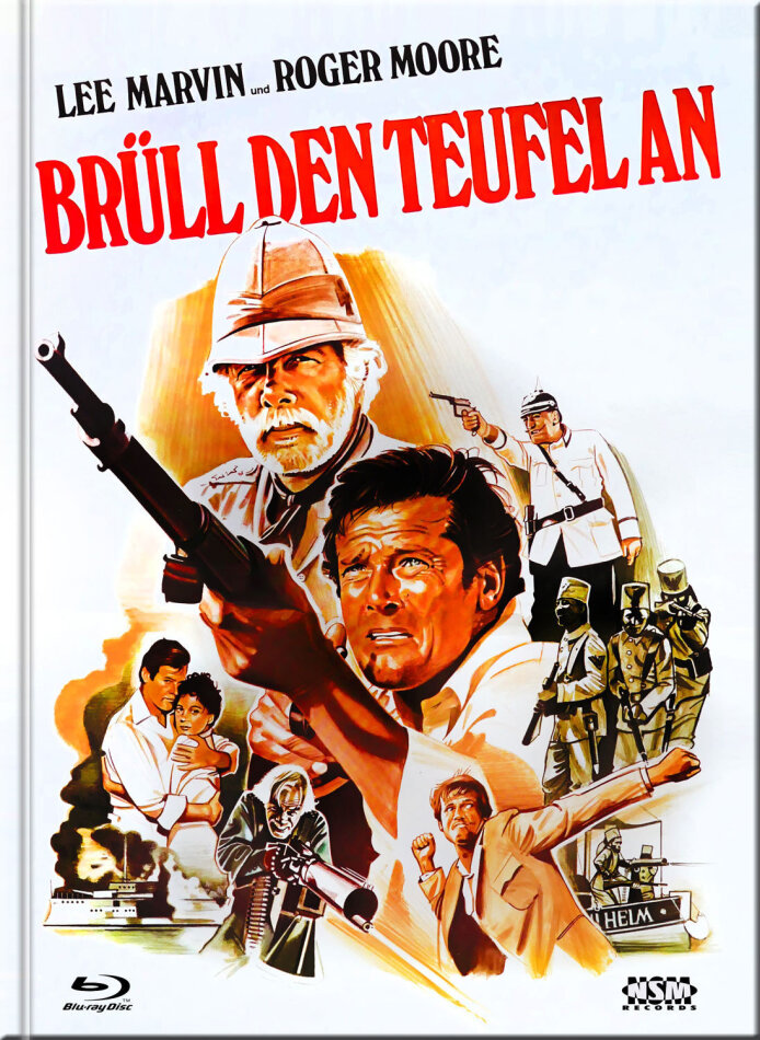Brüll den Teufel an (1976) (Cover C, Limited Collector's Edition, Mediabook, Uncut, Blu-ray + DVD)