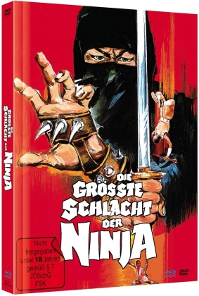 Die grösste Schlacht der Ninja (1983) (Cover B, Limited Edition, Mediabook, Blu-ray + DVD)