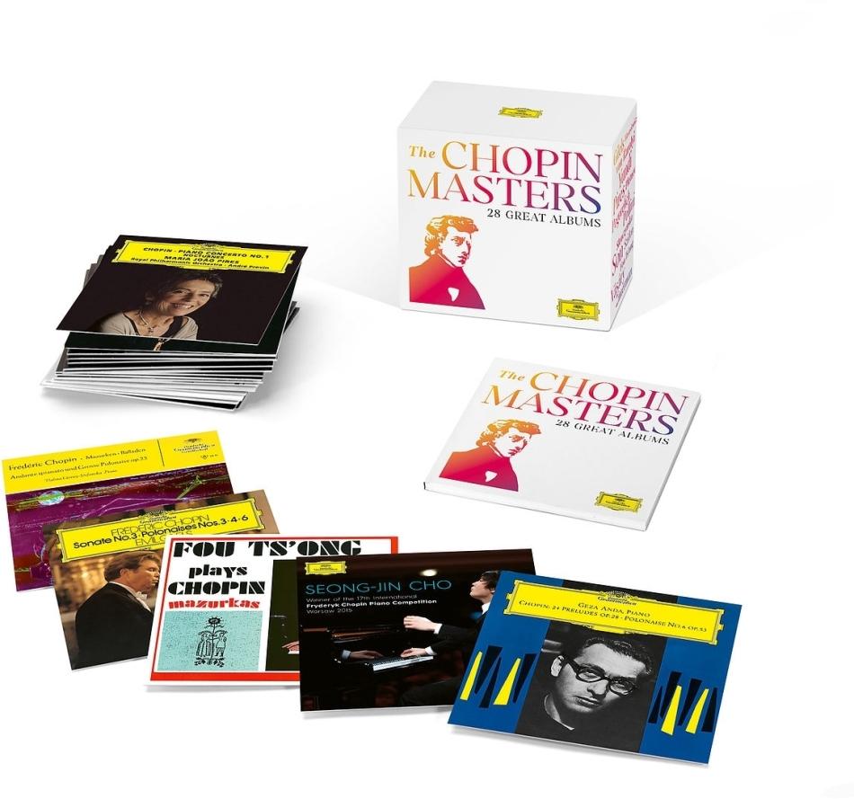 Martha Argerich, Vladimir Ashkenazy, Ivo Pogorelich & Maurizio Pollini - Chopin Masters Edition (Boxset, 28 CDs)