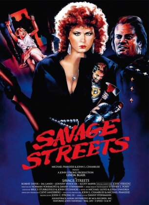 Savage Streets (1984) (Cover C, Collector's Edition, Limited Edition, Mediabook, Remastered, Blu-ray + DVD)