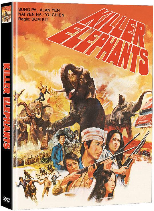 Killer Elephants (1976) (Cover C, Super Spooky Stories, Limited Edition, Mediabook, 2 DVDs)