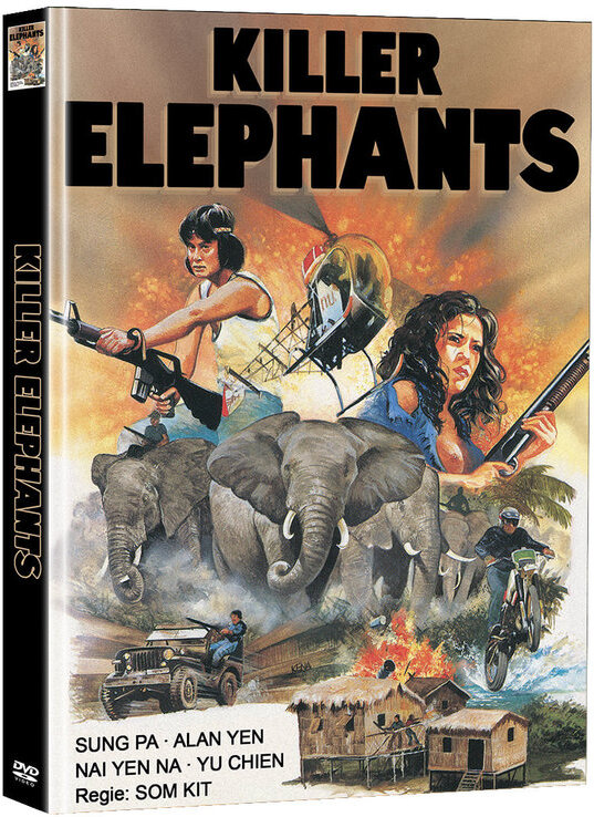 Killer Elephants (1976) (Cover D, Super Spooky Stories, Limited Edition, Mediabook, 2 DVDs)