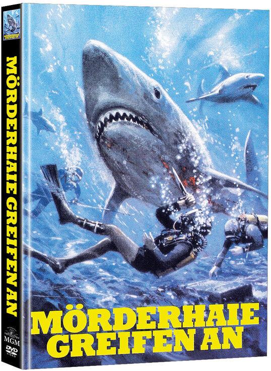 Mörderhaie greifen an (1975) (Cover A, Super Spooky Stories, Limited Edition, Mediabook, 2 DVDs)