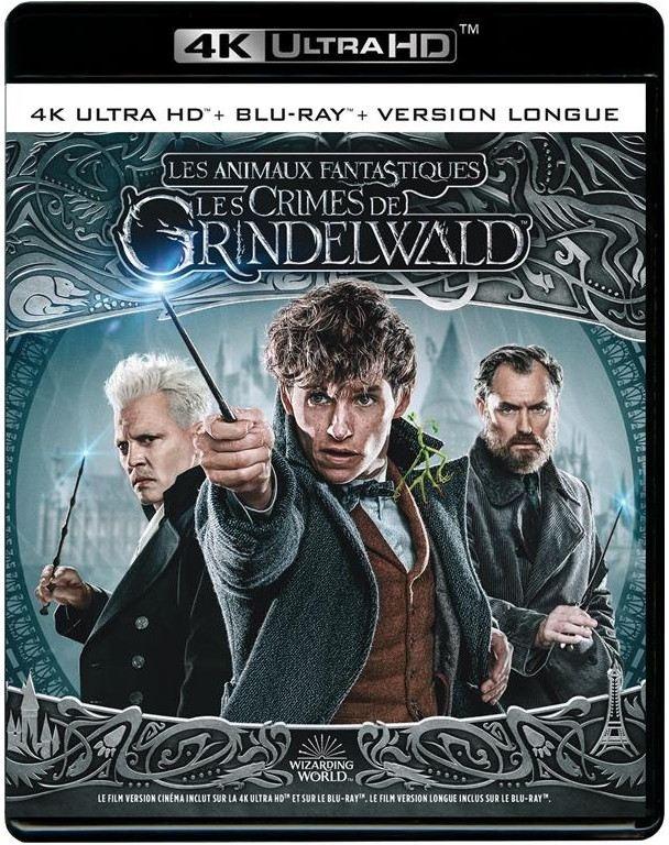 Les animaux fantastiques 2 - Les crimes de Grindelwald (2018) (Version Longue, 4K Ultra HD + Blu-ray)