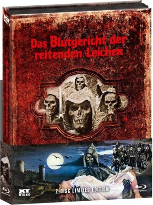 Das Blutgericht der reitenden Leichen (1975) (Wattiert, Limited Edition, Mediabook, Uncut, Blu-ray + DVD)