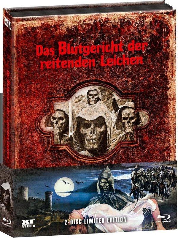 Das Blutgericht der reitenden Leichen (1975) (Wattiert, Kinoversion, Limited Edition, Mediabook, Uncut, Blu-ray + DVD)