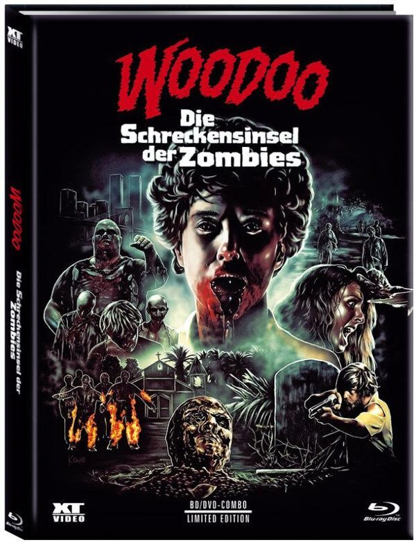 Woodoo - Die Schreckensinsel der Zombies (1979) (Cover A, Limited Edition, Mediabook, Blu-ray + DVD)