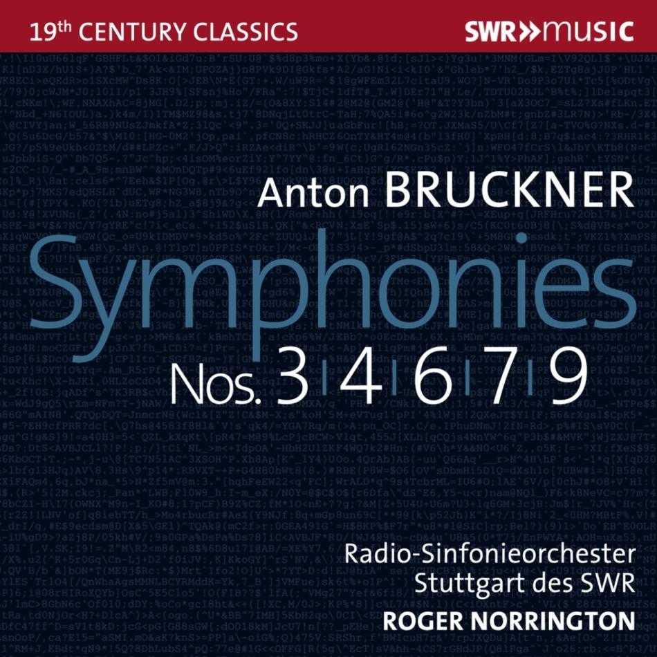 Anton Bruckner (1824-1896), Roger Norrington & Radio-Sinfonieorchester Stuttgart des SWR - Symphonies 3, 4, 6, 7 & 9 (5 CDs)