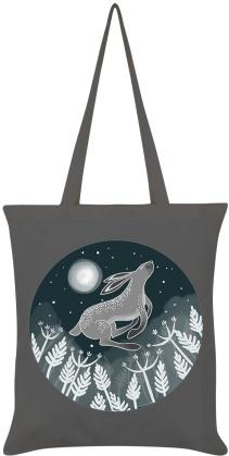 Lunar Lapin - Graphite Grey Tote Bag