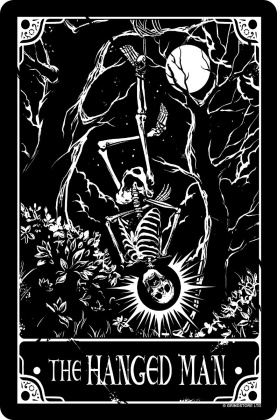 Deadly Tarot: The Hanged Man - Small Tin Sign