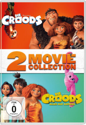Die Croods (2013) / Die Croods 2 - Alles auf Anfang (2020) - 2 Movie Collection (2 DVDs)