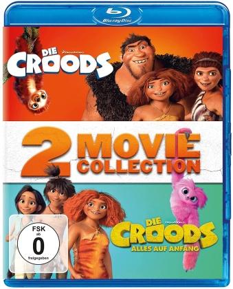Die Croods (2013) / Die Croods 2 - Alles auf Anfang (2020) - 2 Movie Collection (2 Blu-ray)
