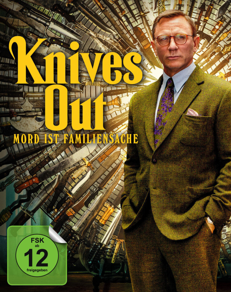 Knives Out (2019) (Limited Edition, Mediabook, 4K Ultra HD + Blu-ray)