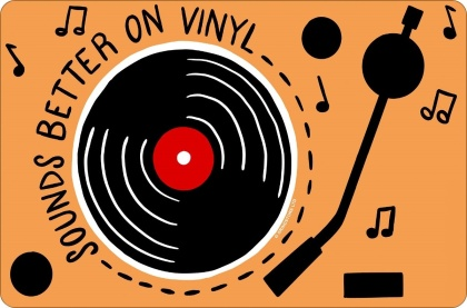 Sounds Better On Vinyl - Small Tin Sign