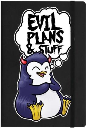 Psycho Penguin: Evil Plans & Stuff - A5 Hard Cover Notebook