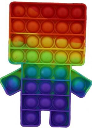 Fidget Push Pop Bubble Puppet Rainbow .