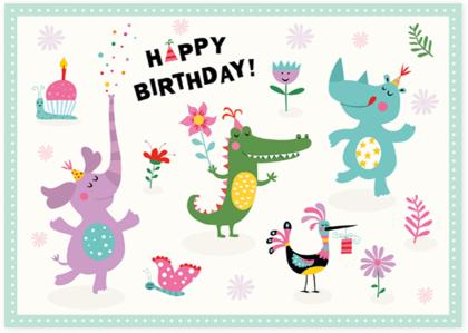 Happy Birthday Postkarte