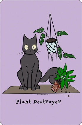 Spooky Cat: Plant Destroyer - Small Tin Sign