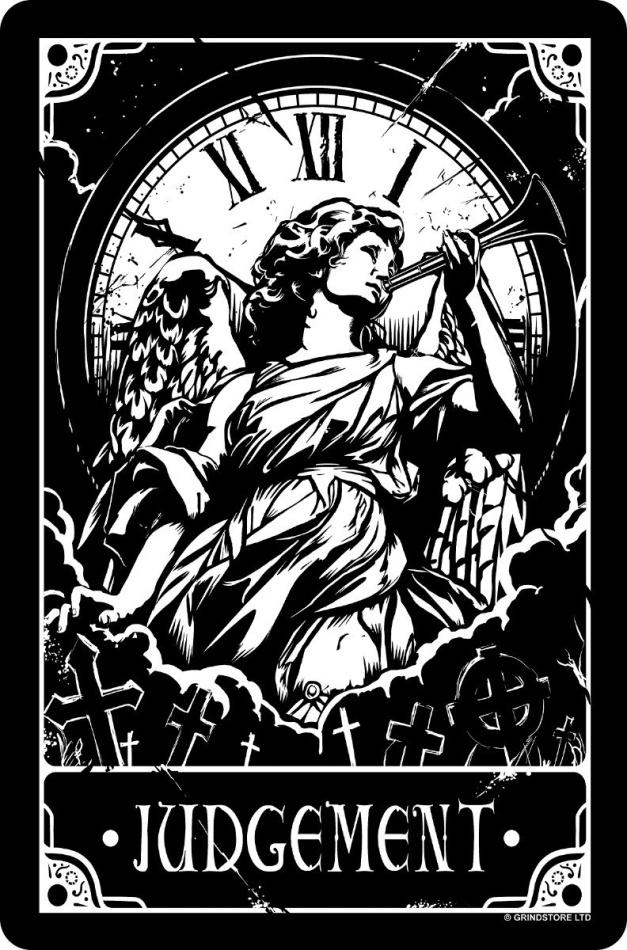 Deadly Tarot: Judgement - Small Tin Sign