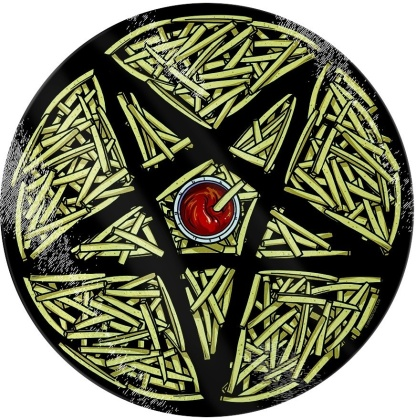 Pentagram Diner: French Fries - Glass Chopping Board