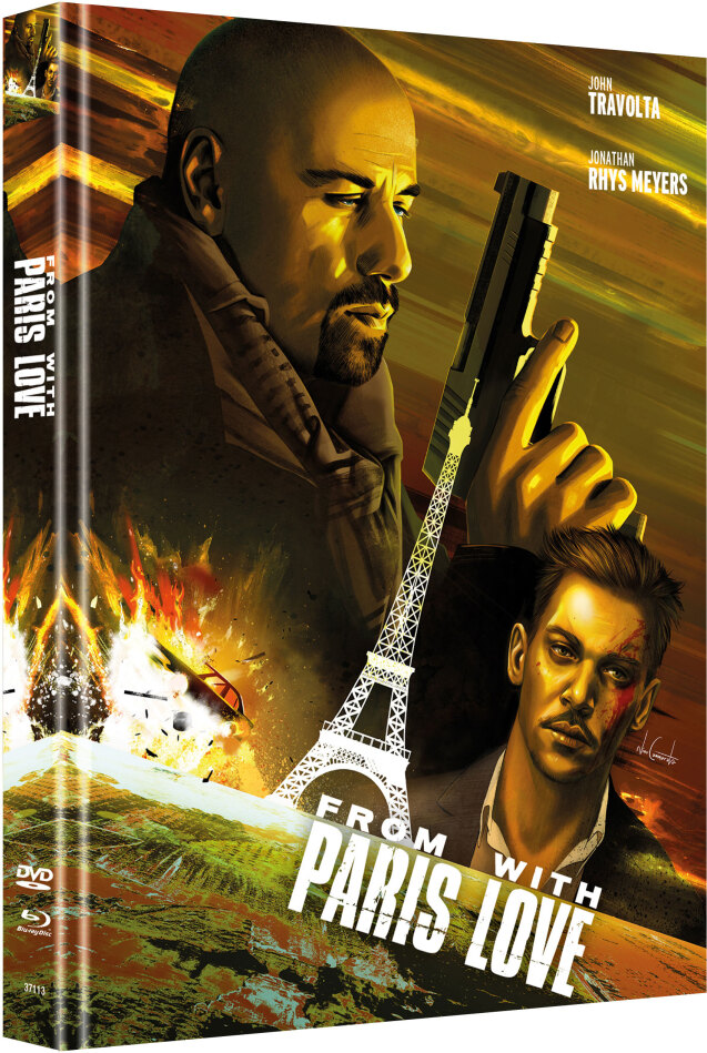 From Paris with Love (2010) (Cover A, Limited Edition, Mediabook, Blu-ray + DVD)