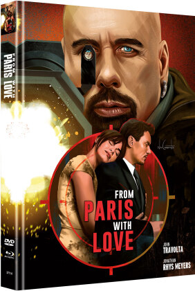 From Paris with Love (2010) (Cover B, Limited Edition, Mediabook, Blu-ray + DVD)